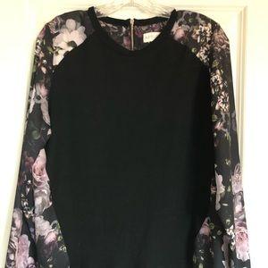 Black & Floral Blouse (StitchFix Exclusive)